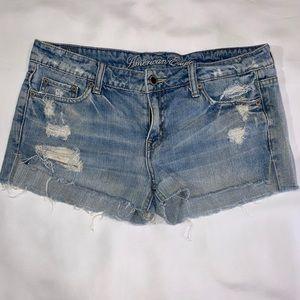 American Eagle jean cut off shorts